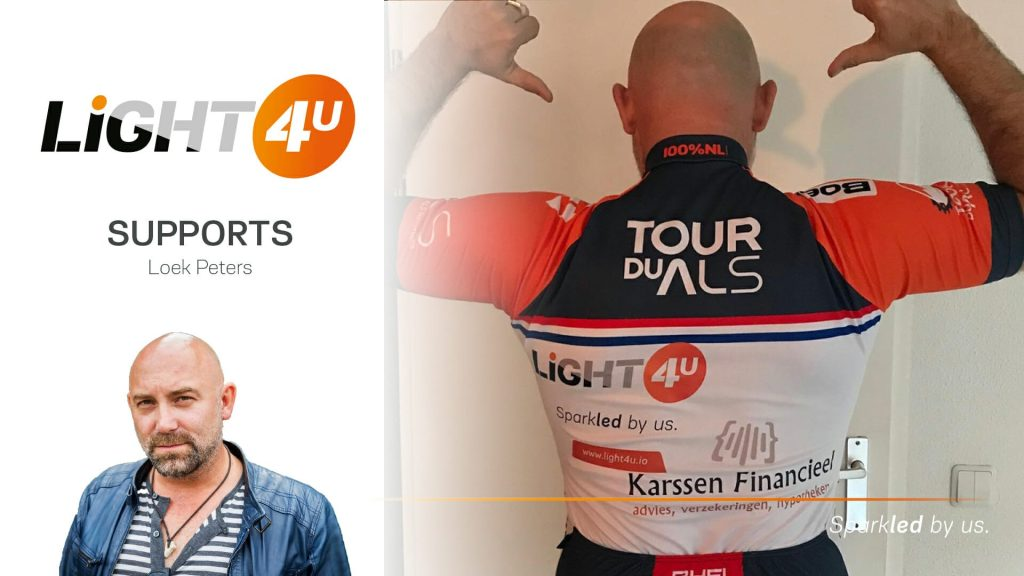 Support for Loek Peters fighting the Mont Ventoux and ALS
